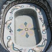 Banquette art mosaique