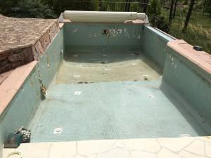 Avant rénovation piscine