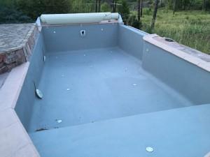 Pendant rénovation piscine