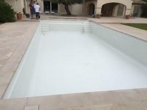 piscine existante avec 2 escaliers