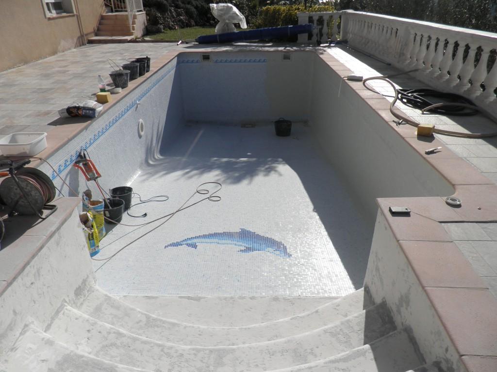 R novation piscine art mosaique for Renovation piscine