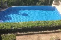 Piscine mosaïque zèbre en eau